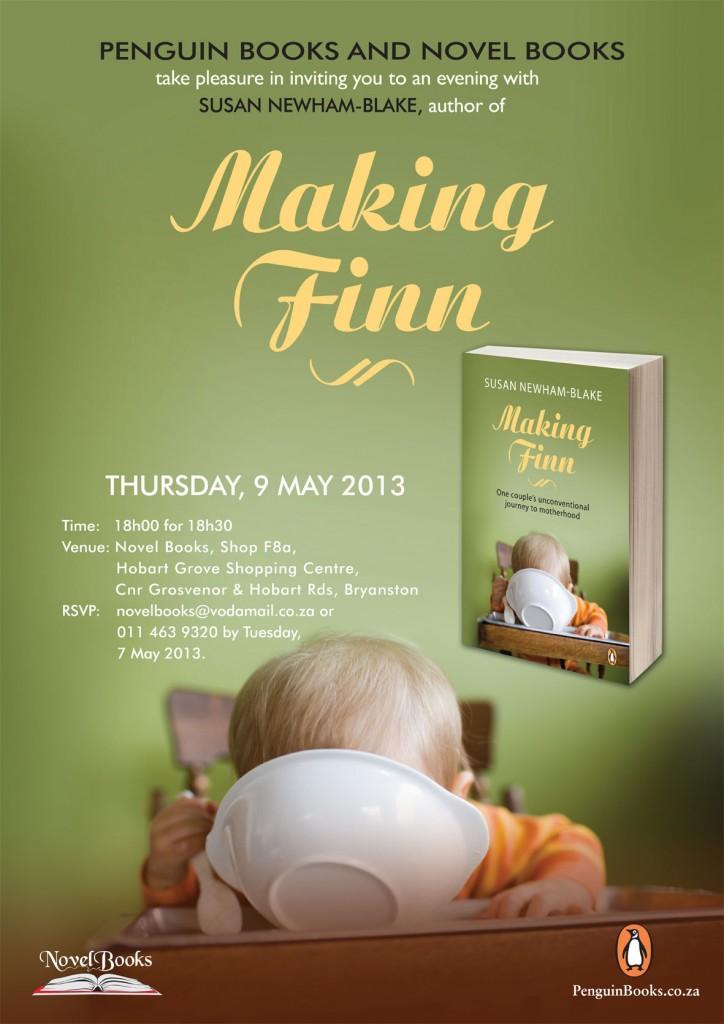 Novel Books Invitation to Making Finn