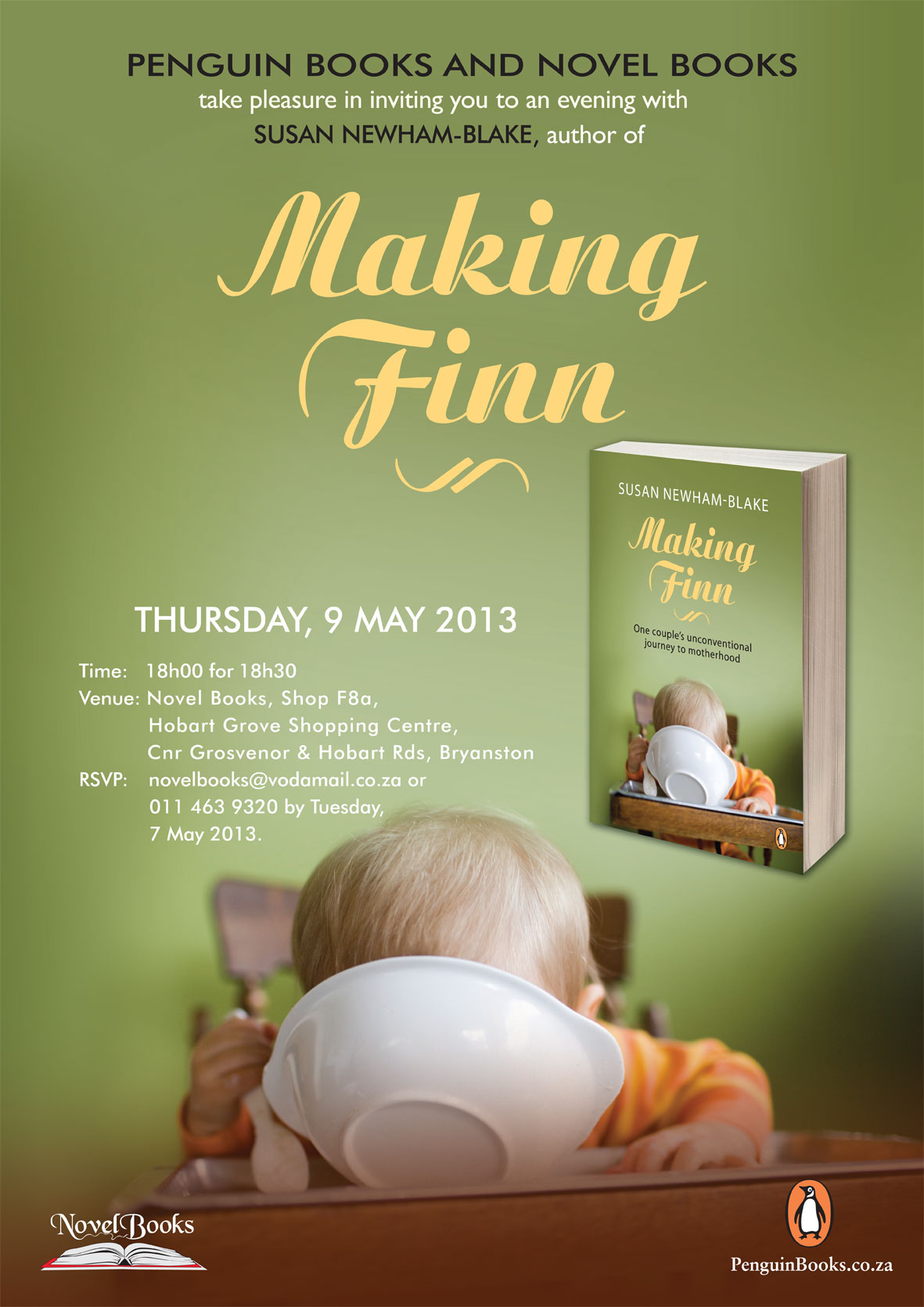 Novel Books Invitation to Making Finn
